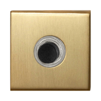 Huisbel GPF9826.02P4 vierkant 50x50x8 mm PVD mat messing