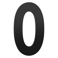 Huisnummer 0 XXL zwart, 400 mm