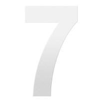 Huisnummer 7 XXL wit, 400 mm