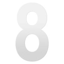 Huisnummer 8 XXL wit, 400 mm