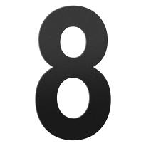 Huisnummer 8 XXL zwart, 400 mm