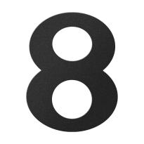 Huisnummer 8 zwart, 150 mm