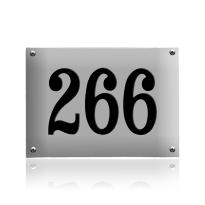 Huisnummer emaille grijs, 220 x 160 mm