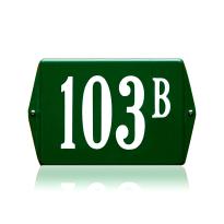 Huisnummer emaille groen, 160 x 120 mm