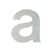 Huisnummer modern RVS letter 'A' plat, 117 mm
