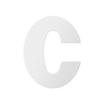 Huisnummer toevoeging letter 'C' wit, 110 mm
