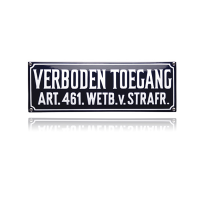 KNH-31 emaille verbodsbord 'Verboden toegang'