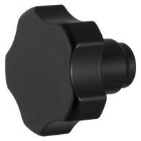 Knop model 5 t.b.v. Mauer knopcilinder zwart egaal