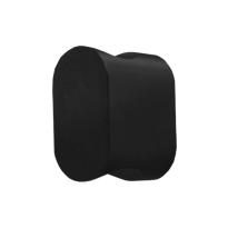 Knop model 7 t.b.v. Mauer knopcilinder zwart egaal
