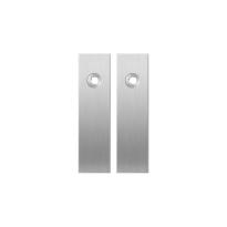 Kortschild GPF1100.15 blind RVS geborsteld