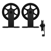 GPF0503.61 schuifdeurhanger set Suuri zwart t.b.v. extra deur