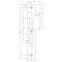 Mauer 327 sluitplaat, rechthoekig RVS