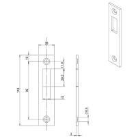 Mauer 449 sluitplaat, DIN LS/RS rechthoekig