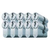 Mauer profielcilinder, standaard serie, dubbele cilinder gelijksluitend per 10