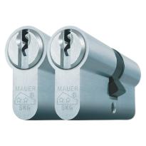 Mauer profielcilinder, standaard serie, dubbele cilinder gelijksluitend per 2