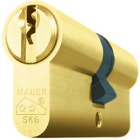Mauer profielcilinder, standaard serie, dubbele cilinder, messing