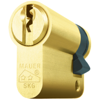 Mauer profielcilinder, standaard serie, halve cilinder, messing