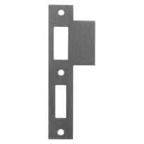 Mauer sluitplaat t.b.v. 1535 dag- en nachtslot, rechthoekig RVS