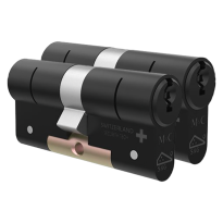 M&C Matrix antikerntrek dubbele veiligheidscilinder gelijksluitend per 2, zwart