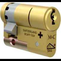 M&C Matrix antikerntrek halve veiligheidscilinder, messing