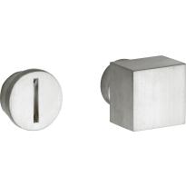 Mi Satori vrij / bezet stift Bauhaus-Style los messing mat nikkel ongelakt