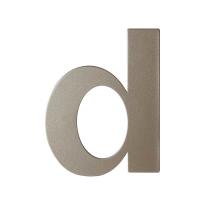 Mocca blend letter D plat, 110 mm