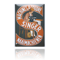 NG-07-SN emaille reclamebord 'Singer'
