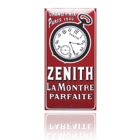 NG-63-ZE emaille reclamebord 'Zenith'