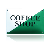 NH-107 emaille naambord 'Coffeeshop vergunning'