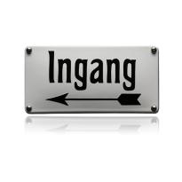 NH-112 emaille naambord 'Ingang'