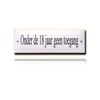 NH-20 emaille naambord 'Onder de 18 jaar geen toegang.'