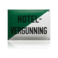 NH-35 emaille naambord 'Hotel vergunning'