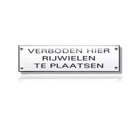 NH-50 emaille verbodsbord 'Verboden hier rijwielen te plaatsen'