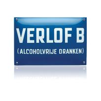 NH-58 emaille naambord 'Verlof B'