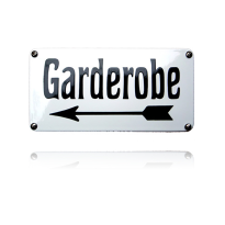 NH-67 emaille naambord 'Garderobe'