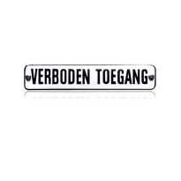 NH-78 emaille verbodsbord 'Verboden toegang'