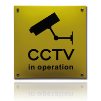 NH-98 emaille veiligheidsbord 'CCTV in oparation'