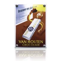 NK-23-HO emaille reclamebord 'Van Houten Chocolade'