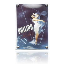 NK-46-PH emaille reclamebord 'Philips staand'