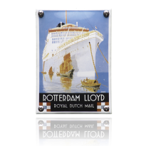 NK-49-RL emaille reclamebord 'Rotterdam Lloyd'