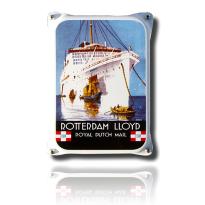 NKO-15-RL emaille reclamebord 'Rotterdam Lloyd'