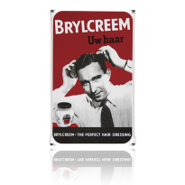 NO-01-BR emaille reclamebord 'Brylcreem'