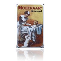 NO-12-MO emaille reclamebord 'Molenaar'