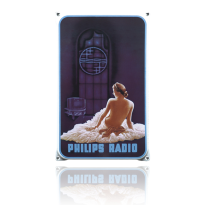 NO-14-PH emaille reclamebord 'Philips Vrouw'