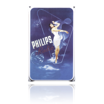 NO-15-PH emaille reclamebord 'Philips staand'