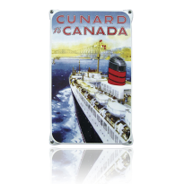 NO-50-CC emaille reclamebord 'Cunard Canada'