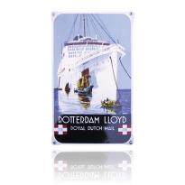 NO-56-RL emaille reclamebord 'Rotterdam Lloyd'