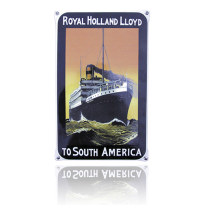 NO-57-RH emaille reclamebord 'Royal Holland'