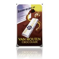 NO-59-HO emaille reclamebord 'Van Houten'