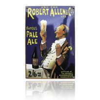 NO-72-RA emaille reclamebord 'Robert Allen'